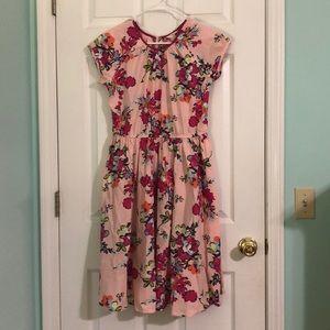 Girls Border Print twirl dress